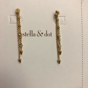 NIB Stella & Dot Celestial Drop Earrings